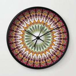 New Color Pyramidal Mandala 33 Wall Clock