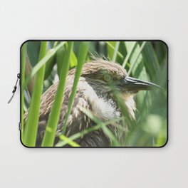 Hiding Bird Photography Print Laptop Sleeve