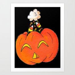 Party Pumpkin Art Print