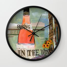 Bring in the Wine Wall Clock