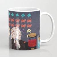 ahs Mugs featuring AHS Hotel by minniemorrisart