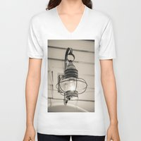 lantern V-neck T-shirts featuring Vintage Lantern by Redhedge Photos