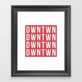 RED BLOCK Framed Art Print