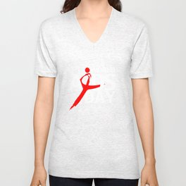 World Aids Day Unisex V-Neck