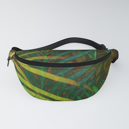 TROPICAL GREENERY LEAVES no6 Fanny Pack