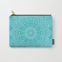 Teal mandala Carry-All Pouch