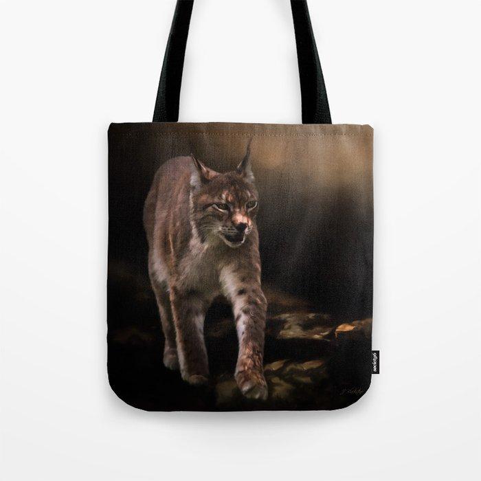 Into The Light - Lynx Art Tote Bag