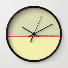 Minimalist Spring: Muted Wall Clock