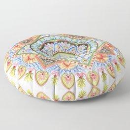 Passion Flower Mandala Floor Pillow