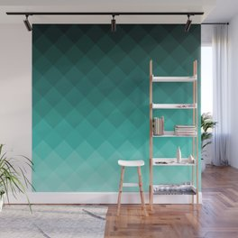 Ombre squares Wall Mural