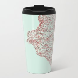 'Inheritance' (1 of 6). Original ink drawings re-coloured in Photoshop. (Other colourways available) Metal Travel Mug