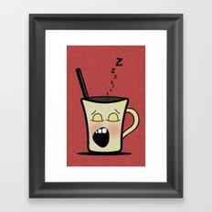Sleepy Time Coffee  Framed Art Print