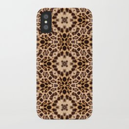 Leopard Kaleidoscope Wild Animal Print iPhone Case