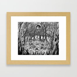 The Hawthorne Hare  Framed Art Print