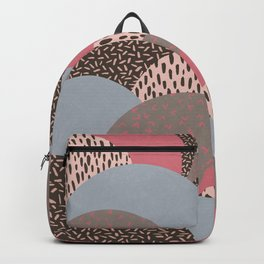 Abstract Autumn Hills Pattern Backpack