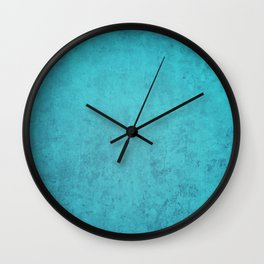 blue wall vintage  background,  stone texture, retro style Wall Clock