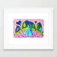 cinderella Framed Art Prints featuring Cinderella by Sandra Nascimento