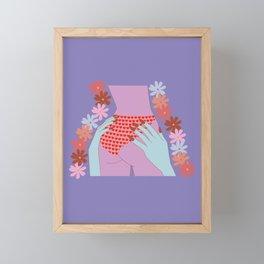 Love Your Butt Framed Mini Art Print
