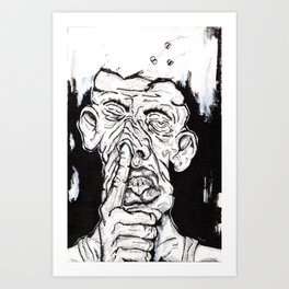 Nosepicker Art Print