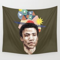 caleb troy Wall Tapestries featuring Troy by mycolour