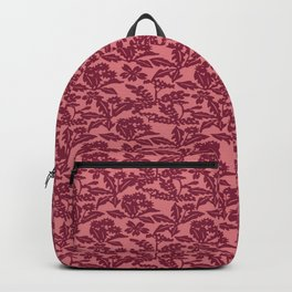 Japanese Nogusa Red Wildflowers Seamless Patterns Symbols Backpack