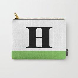 Monogram Letter H (color block) Carry-All Pouch