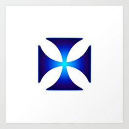 Glowing symbol Cross Pattee (Christianity) Art Print