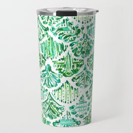 MERMAIDS OF SV Green Fish Scale Travel Mug