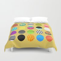 easter Duvet Covers featuring Easter eggs by Elisabeth Fredriksson