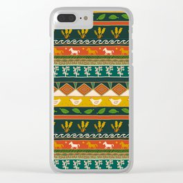 Ukrainian Folk Art Stripe Clear iPhone Case