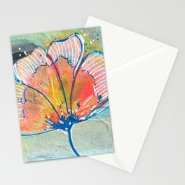 Happy Peachy Flower Stationery Cards