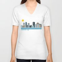 montreal V-neck T-shirts featuring Montreal City by loogart