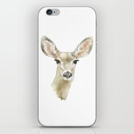 Doe Deer Watercolor Painting Fine Art iPhone Skin