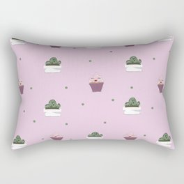 For the Love of Cupcakes and Cacti Rectangular Pillow