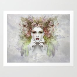 Springtime Goddess Art Print