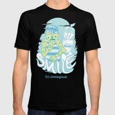 Smile It's contagious :D Mens Fitted Tee MEDIUM Black