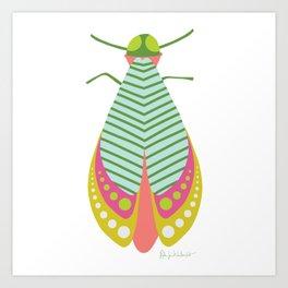 Summer Moth Art Print