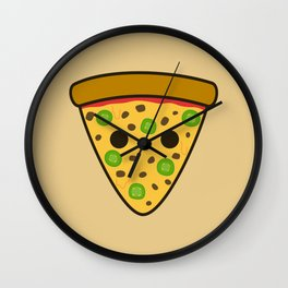Yummy spicy pizza Wall Clock