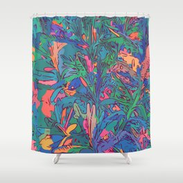 Neon color lavenders Shower Curtain