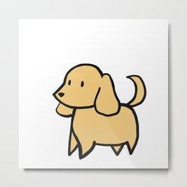 Golden Dog Metal Print