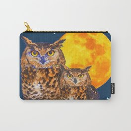 TWO OWLS IN FULL MOONSCAPE NIGHT Carry-All Pouch