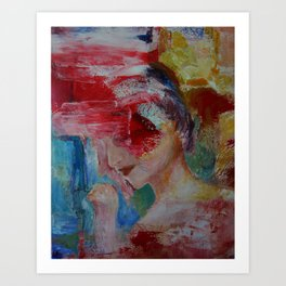 abstract figurative 2 Art Print