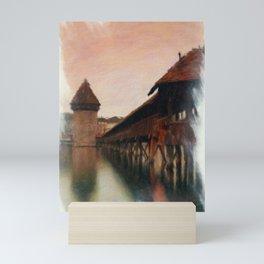 Lucerne Chapel Bridge 2 Mini Art Print