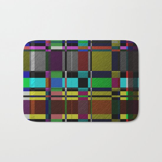 Retro Patchwork Bath Mat
