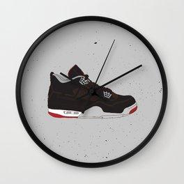 Air Jordan 4 Black Cement Wall Clock