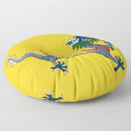 Chinese Dragon - Flag of Qing Dynasty Floor Pillow