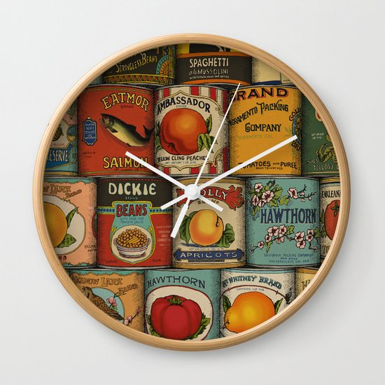 Canned in the USA Wall Clock