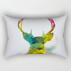 Glass Animal - Deer head Rectangular Pillow
