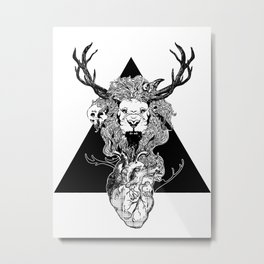 Entangled V2 Metal Print