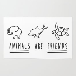 Animals are friends Rug